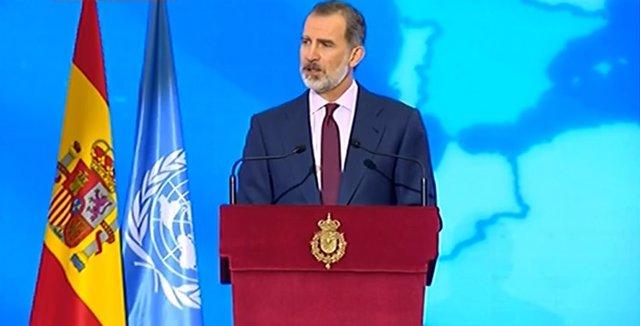 El Rey Felipe VI preside el acto de conmemoración del 75 aniversario de la entrada en vigor de la carta de las Naciones Unidas