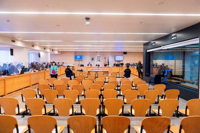 Pla general de la sala on té lloc el judici dels atemptats de Barcelona i Cambrils el 10 de novembre del 2020 (Horitzontal)