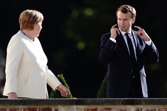 La canciller de Alemania, Angela Merkel, y el presidente de Francia, Emmanuel Macron