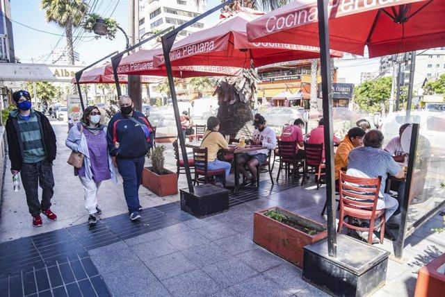 Cafetería en la ciudad chilena de Viña del Mar
