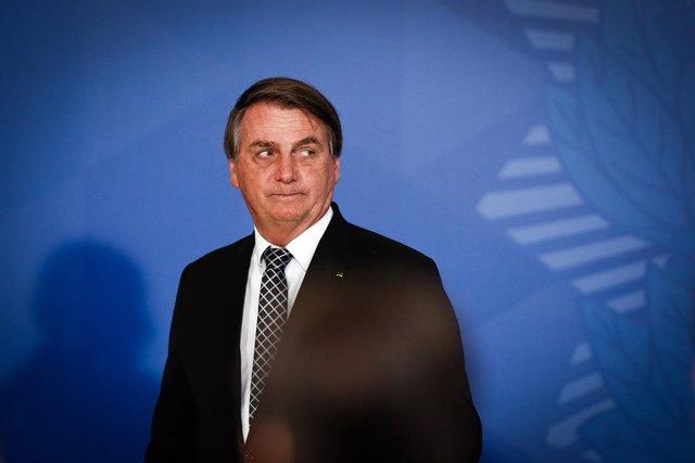 28 October 2020, Brazil, Rio de Janeiro: Brazilian President Jair Bolsonaro attends a Civil Servants' Day event. Photo: O Globo/GDA via ZUMA Wire GDA via ZUMA Wire/dpa