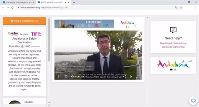 [Mediosandalucia1.Ctrjal] Andalucía Promociona El Destino En La World Travel Market Virtual Como Esponsor Principal