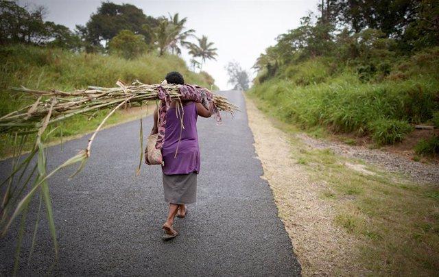 Preparativos ante la llegada de un ciclón en Vanuatu