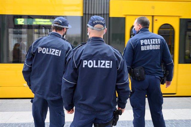 Despliegue policial en Dresde