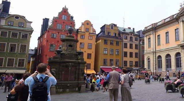 Imagen del centro de Estocolmo