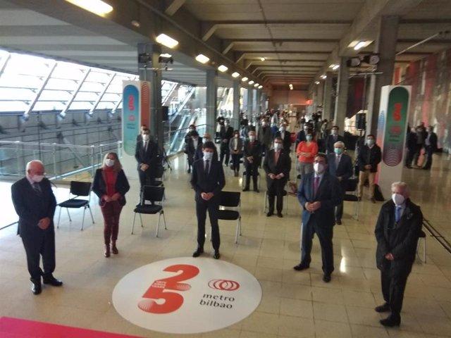 Celebración de los 25 años de Metro Bilbao