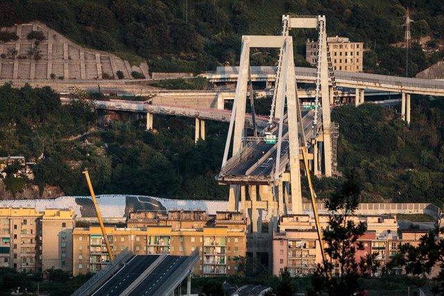 Derrumbe del puente Morandi en Génova