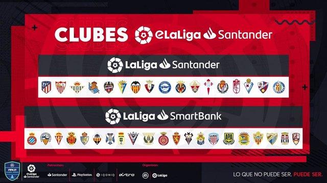 La eLaLiga Santander de 2020-21 contará con 38 clubs, cuatro más que en la anterior temporada