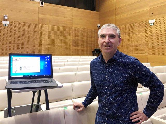 Antonio Liberal, en la presentación de la aplicación