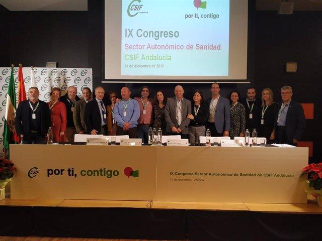 Imagen de archivo de la elección de Victorino Girela presidente del sector de Sanidad de CSIF Andalucía.