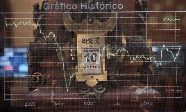 Calendario con la fecha del 10 de noviembre en la bolsa de Madrid (España), a 10 de noviembre de 2020.