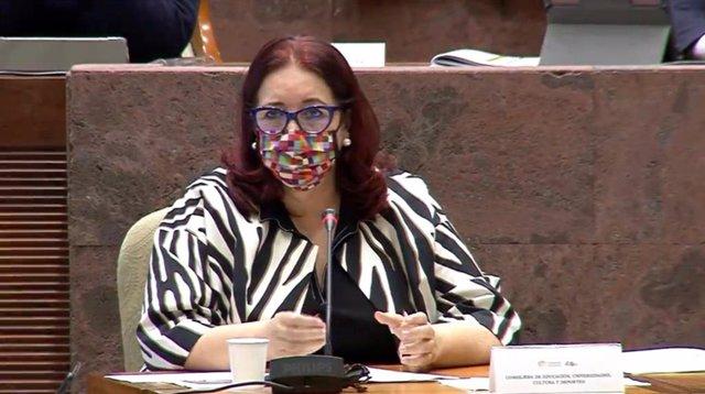 La consejera de Educación, Universidades, Cultura y Deportes del Gobierno de Canarias, Manuela Armas