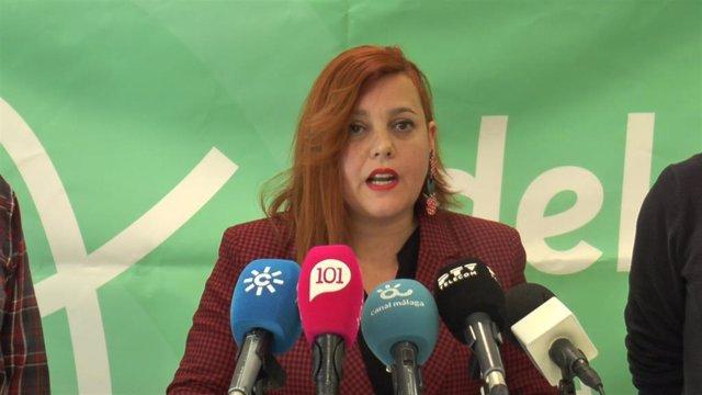 La parlamentaria de Adelante Andalucía por Málaga Vanessa García en una imagen de archivo