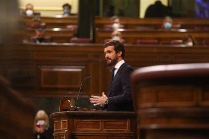 """Casado dice que los PGE traerán una crisis """"sin paliativos"""" con """"déficit, deuda, despilfarro y desempleo"""""""