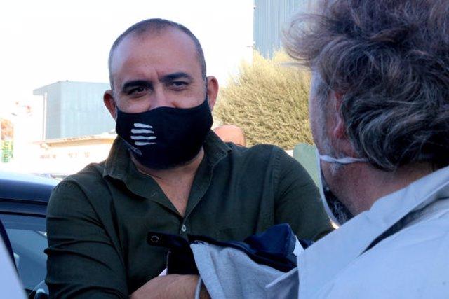Pla mitjà del secretari general de CCOO a Catalunya, Javier Pacheco, l'11 de novembre del 2020 (horitzontal)
