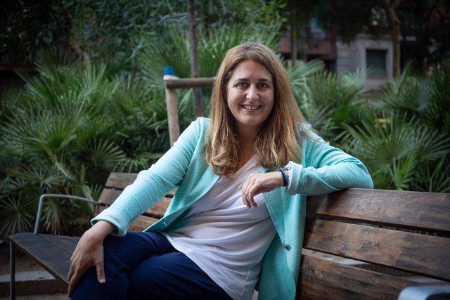 La secretària general del PNC, Marta Pascal, després d'una entrevista a Europa Press. Barcelona, Catalunya, (Espanya), 11 de setembre del 2020.