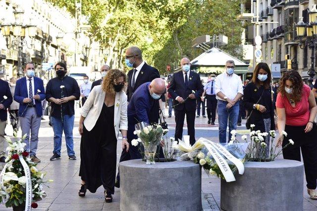 Homenatge als atemptats de Barcelona (Arxiu).