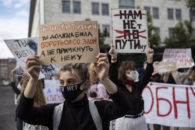 Protestas contra las políticas del Gobierno ruso.