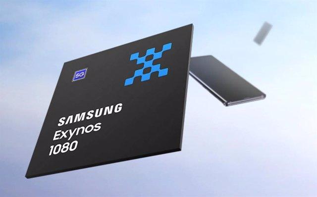 Procesador Exynos 1080 de Samsung.