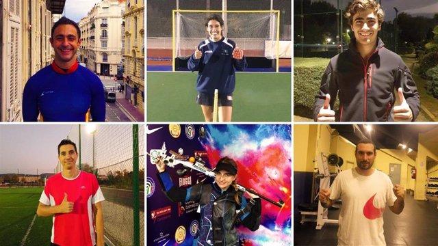 Los seis participantes en la Copa de España 2020 de skeleton y que buscarán entrar a formar parte del equipo olímpico español