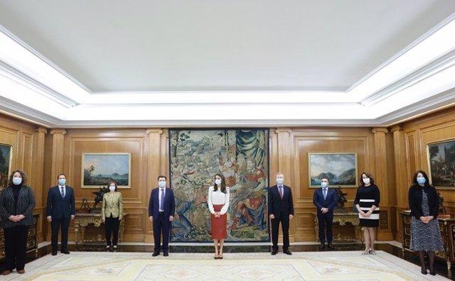 La Reina recibe a una representación de la Asociación Española de Editoriales de Publicaciones Periódicas (AEEPP).
