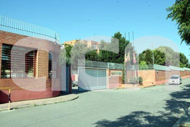 Pla general de l'entrada al Centre Penitenciari de Ponent. Imatge del 29 de maig del 2020. (Horitzontal)