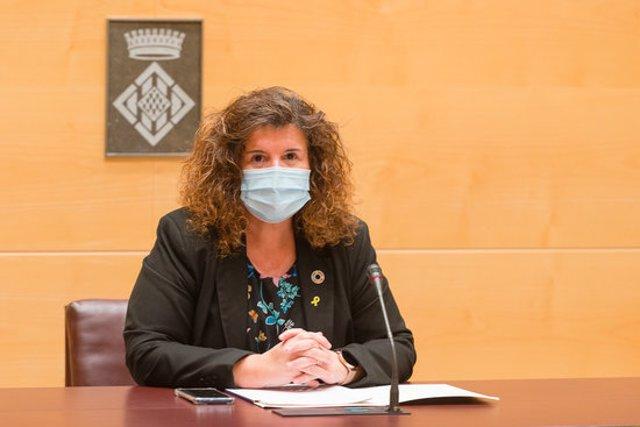 Pla mijtà de la diputada de Medi Ambient de la Diputació de Girona, Anna Barnadas, en una roda de premsa l'11 de novembre de 2020 (Horitzontal)