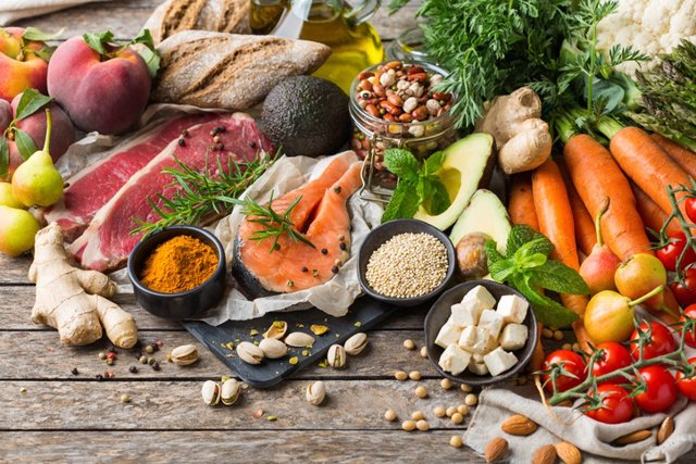 Comida saludable, dieta mediterranea.
