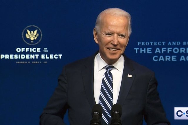 10 November 2020, US, Wilmington: A screen grab shows US President-elect Joe Biden delivering remarks about the Affordable Care Act (ACA). Photo: -/ZUMA Wire/dpa