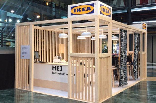 El model d'estand que Ikea instal·larà a l'Espa Gironès de Salt, en una imatge cedida aquest 13 de novembre del 2020. (Horitzontal)