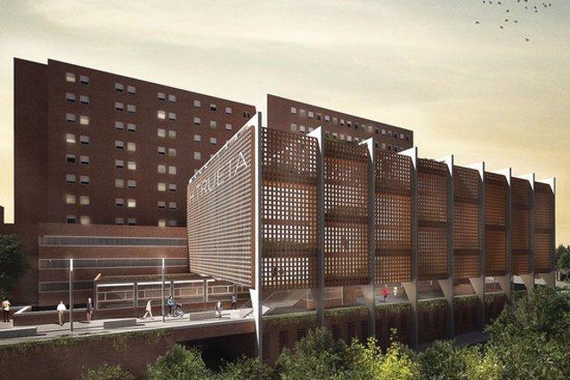 Pla general del disseny del projecte d'ampliació del Trueta, en una imatge cedida aquest 13 de novembre del . (Horitzontal)