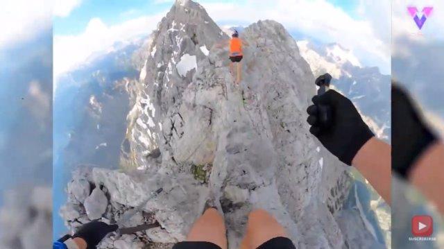 Así fue el vertiginoso recorrido de Anton Plazer por la montaña Watzmann, Alemania, dodne batió un récord