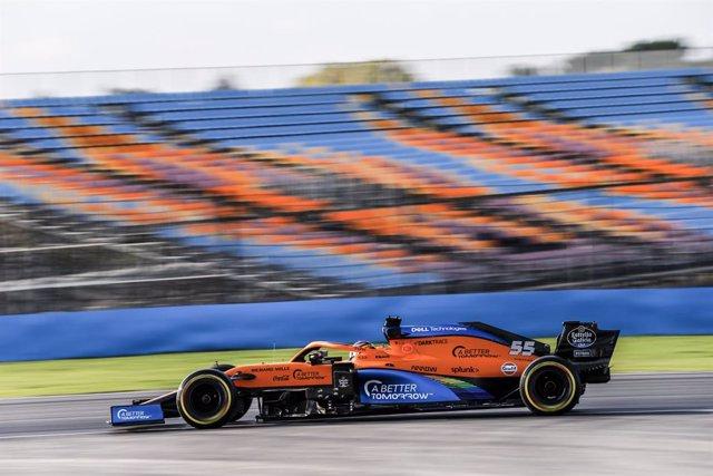 Carlos Sainz (McLaren) rodando en Turquía