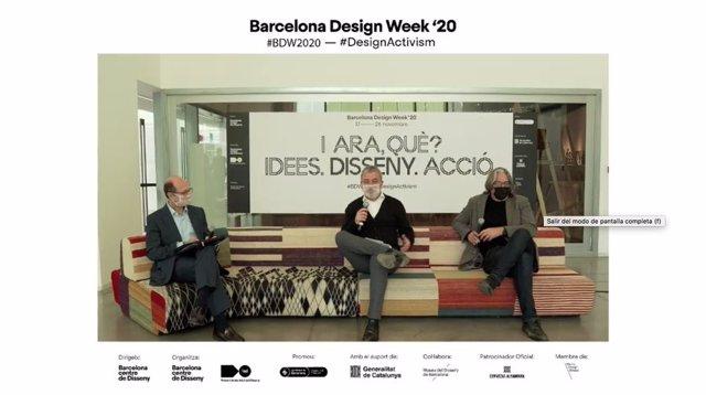 Roda de premsa de Luis Lopezbarrena, Jaume Collboni i Xavier Marcé per presentar la 15 edició de la Barcelona Design Week