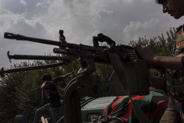 Policías en Afganistán