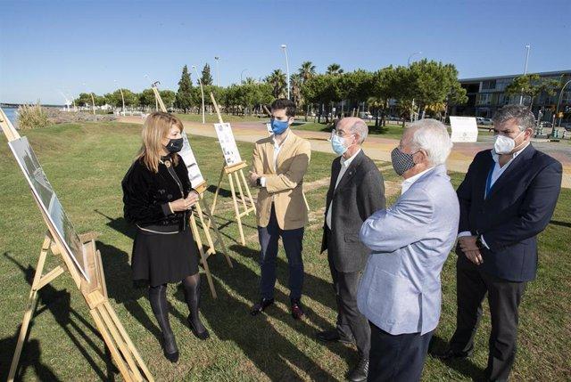 La reconstrucción se ubicará en el extremo sur del Paseo de la Ría de Huelva capital.