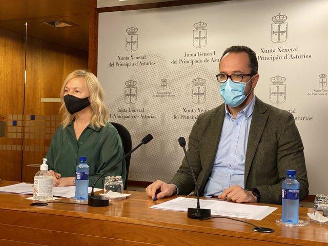 Los diputados de Vox Asturias, Sara Álvarez e Ignacio Blanco.