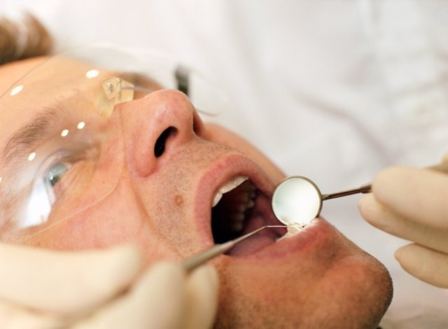 Patient with dentist