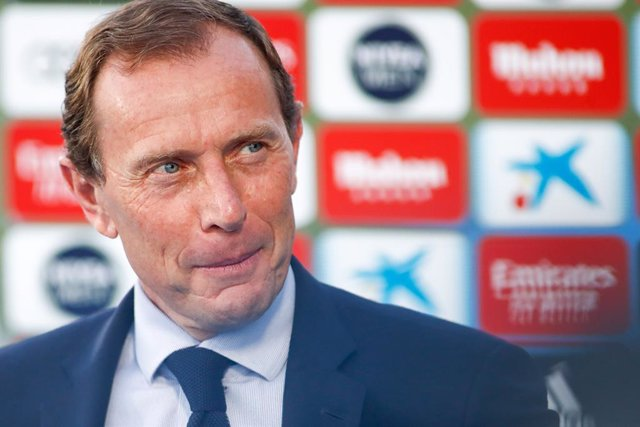Emilio Butragueno, Sports Director of Real Madrid, is seen before the spanish league, LaLiga, football match played between Real Madrid and RCD Mallorca at Alfredo Di Stefano Stadium on June 24, 2020 in Villarreal, Spain. The Spanish La Liga is restarting