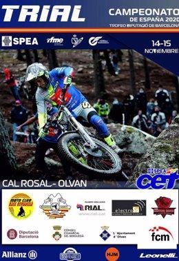 Cartel del Campeonato de España de Trial 2020 - Cal Rosal
