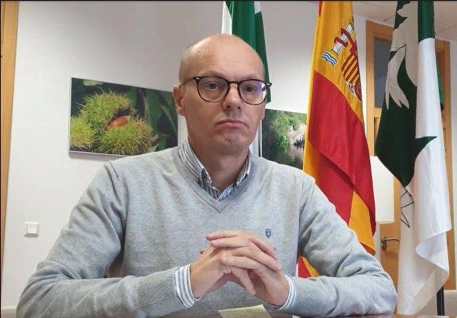 El alcalde de Yunquera (Málaga), José Antonio Víquez.