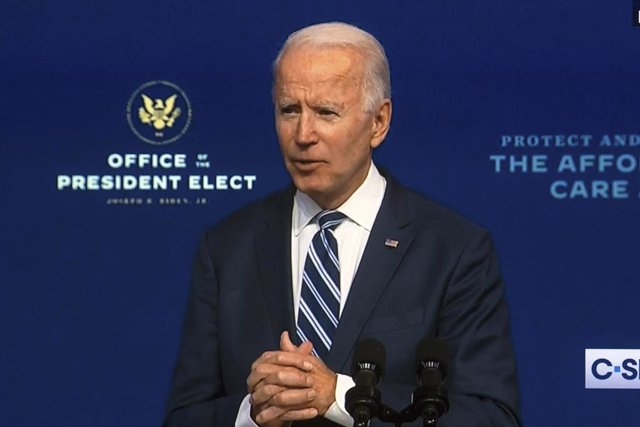 10 November 2020, US, Wilmington: A screen grab shows US President-elect Joe Biden delivering remarks about the Affordable Care Act (ACA). Photo: C-Span/ZUMA Wire/dpa