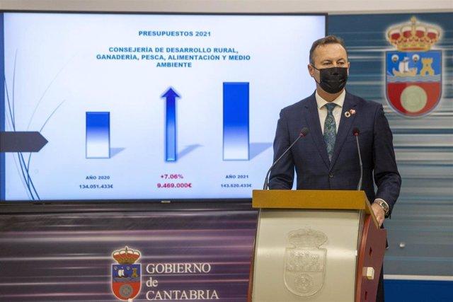 Guillermo Blanco presenta los presupuestos de su Consejería