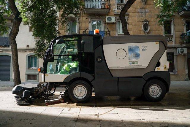Vehicle de neteja de l'Ajuntament de Barcelona