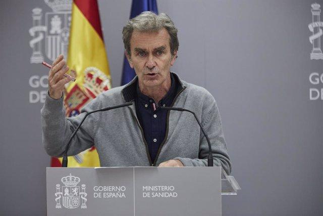El director del Centre de Coordinació d'Alertes i Emergències Sanitàries (CCAES), Fernando Simón.
