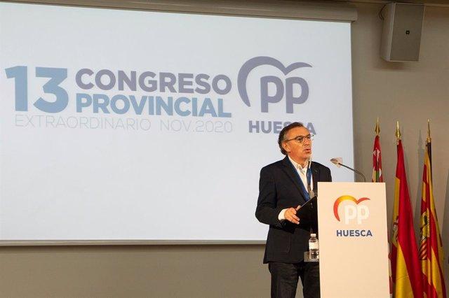 """Beamonte (PP): """"El desapego de Lambán y de Sánchez con Huesca condena a la provincia de Huesca""""."""
