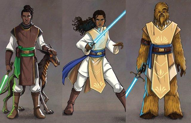 Asi son los Padawan de Star Wars: La Alta República
