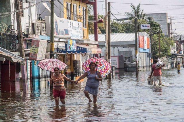Inundaciones en Villahermosa, Tabasco, México