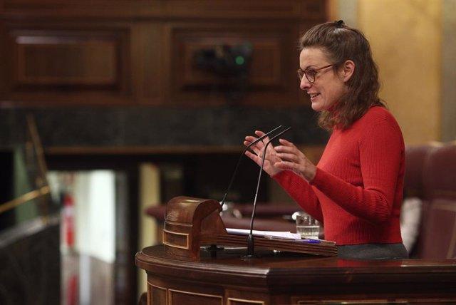La diputada de la CUP, Mireia Vehí, intervé durant una sessió plenària celebrada al Congrés dels Diputats, a Madrid.