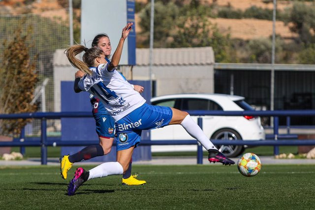 Natalia Ramos of Granadilla Tenerife in action during the Spanish League, Primera Iberdrola, women football match played between Levante UD v Granadilla Tenerife at Ciudad de Levante Stadium on February 1, 2020, in Valencia, Spain.